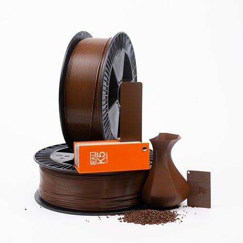 PLA 800001 Nut brown RAL 8011 1.75 / 2000