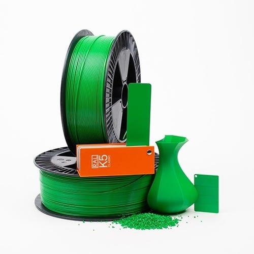 PLA 600010 Pure green RAL 6037 1.75 / 2000