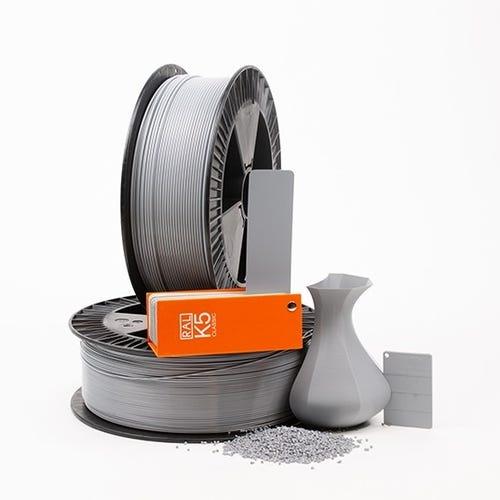 PLA 700001 Silver grey RAL 7001 1.75 / 750
