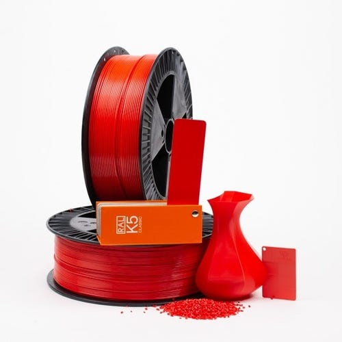 PLA 300009 Pure red RAL 3028 1.75 / 750