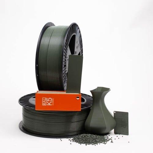 PLA 700033 Green grey RAL 7009 1.75 / 750